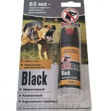 Аэрозольно-струйный газовый баллончик «AntiDog Black» 65 мл